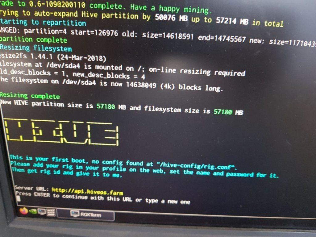 Настройка Hive OS