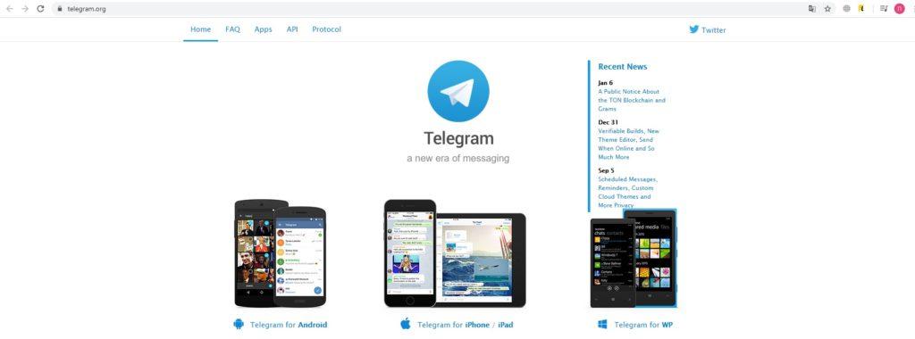 Официальный сайт телеграмм