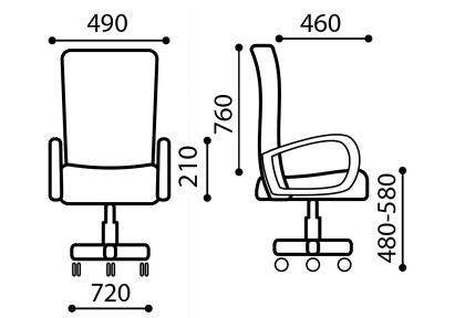 BK-8CH - характеристики кресла